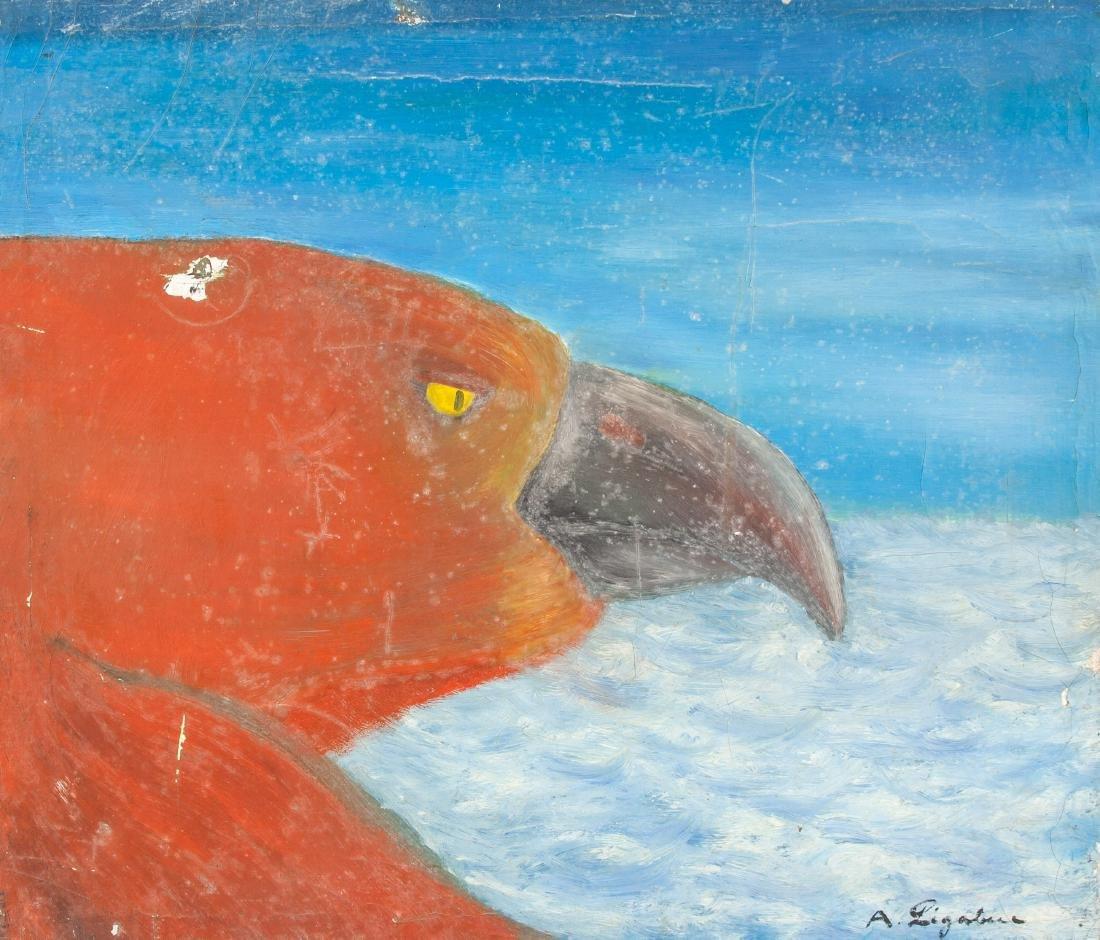 Antonio Ligabue (Italian 1899-1965) Oil on Canvas