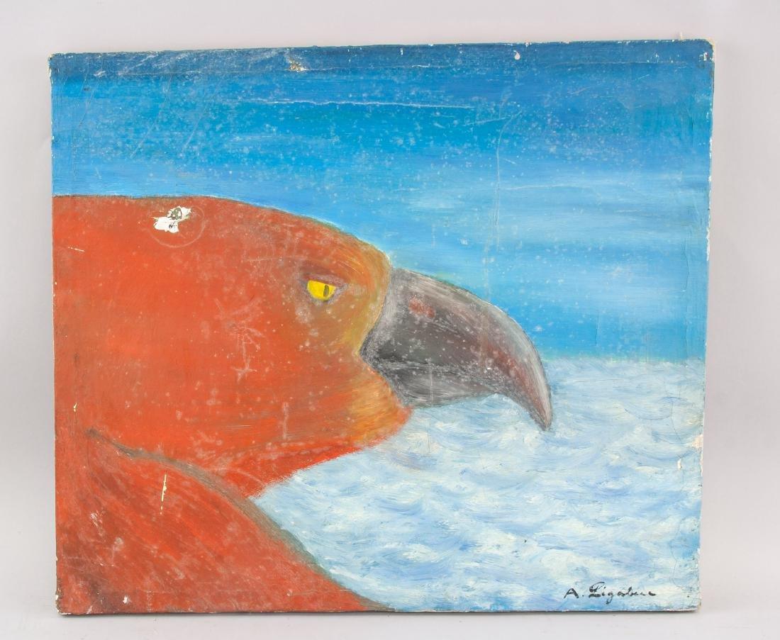 Antonio Ligabue (Italian 1899-1965) Oil on Canvas - 2