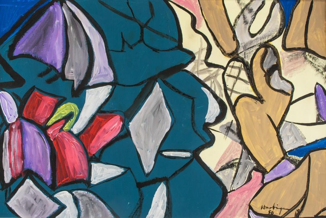Grace Hartigan (American 1922-2008) Oil on Canvas