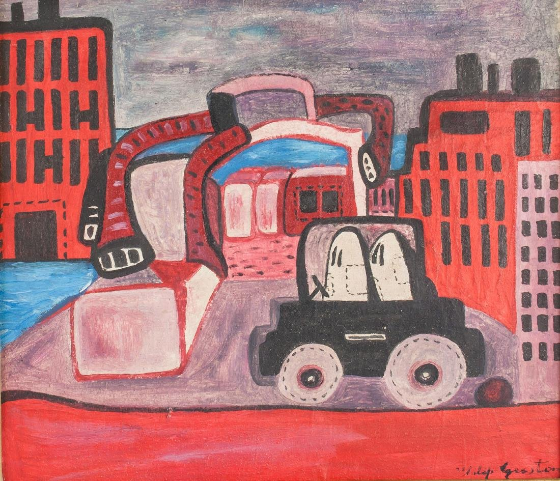 Philip Guston (American 1913-1980) Oil on Canvas