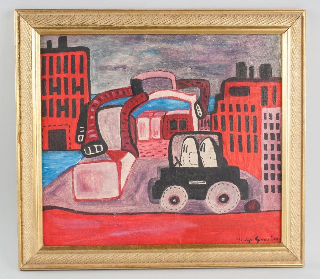 Philip Guston (American 1913-1980) Oil on Canvas - 2