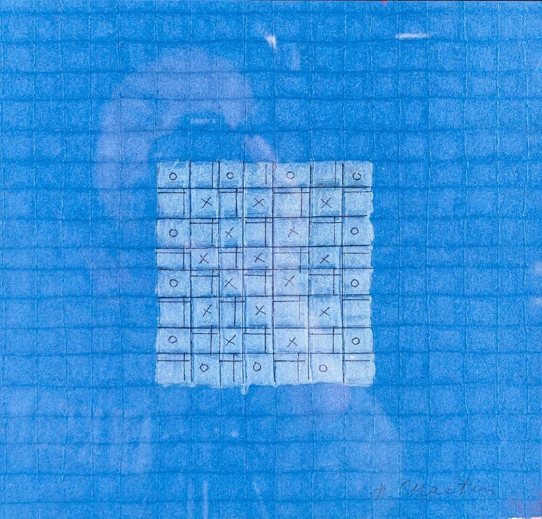 Agnes Martin 1912-2004 Mixed Media Framed