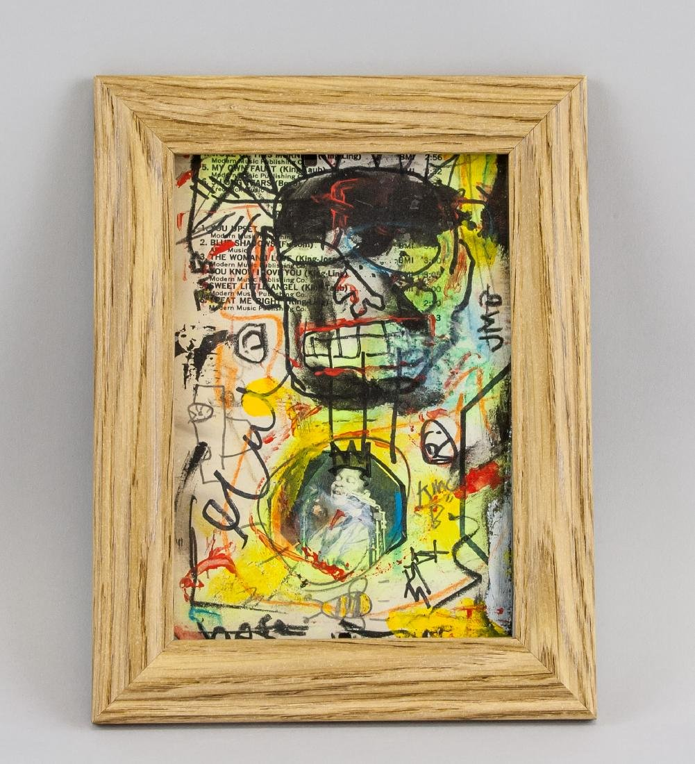 Jean-Michel Basquiat 1960-1988 Mixed Media Board - 2
