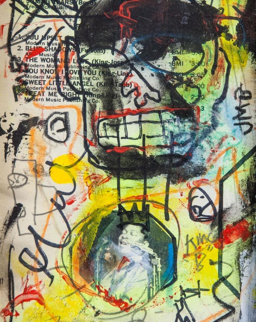 Jean-Michel Basquiat 1960-1988 Mixed Media Board - 3