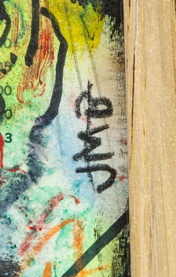 Jean-Michel Basquiat 1960-1988 Mixed Media Board - 4