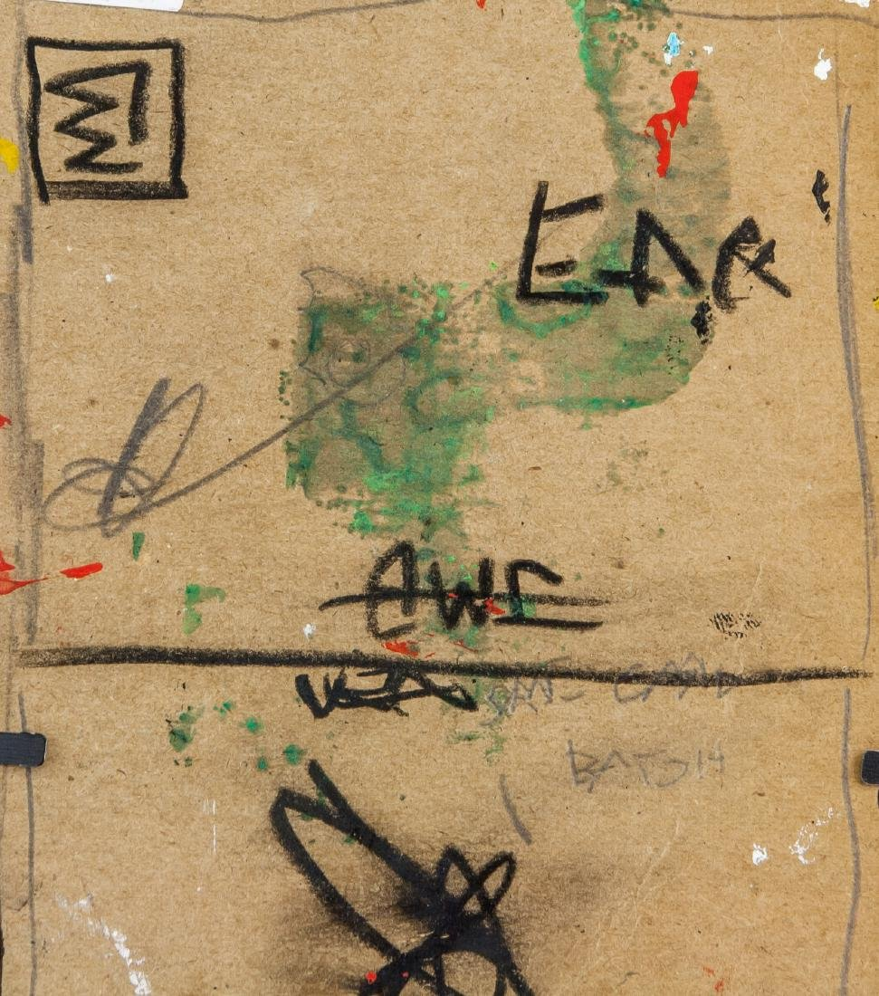 Jean-Michel Basquiat 1960-1988 Mixed Media Board - 6