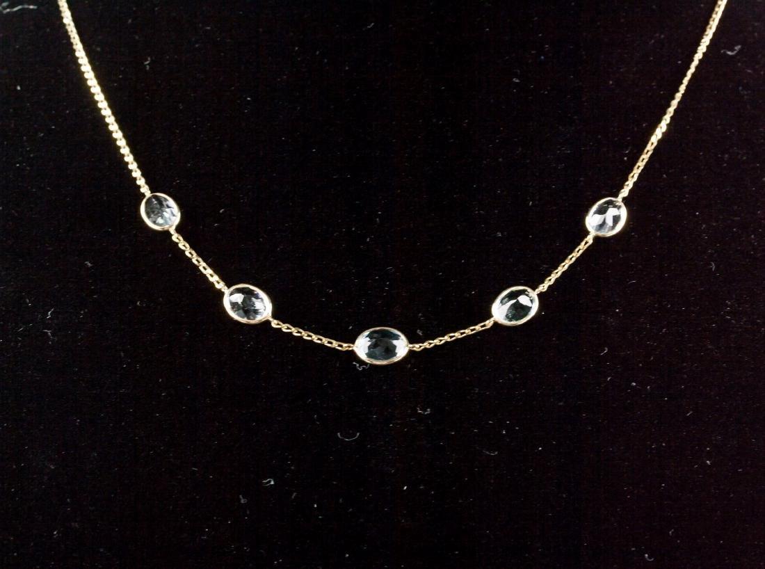 7.1ct Aquamarine Necklace CRV$2350