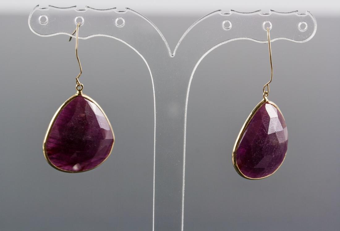 36.10ct Ruby Earrings RV$1200