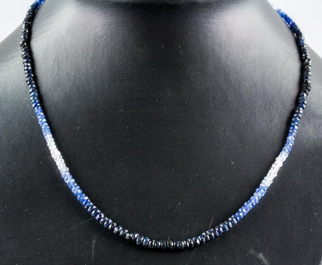 18k Gold Clasp 40ct Sapphire Necklace CRV $4929