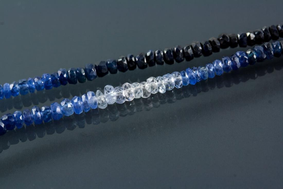 18k Gold Clasp 40ct Sapphire Necklace CRV $4929 - 4