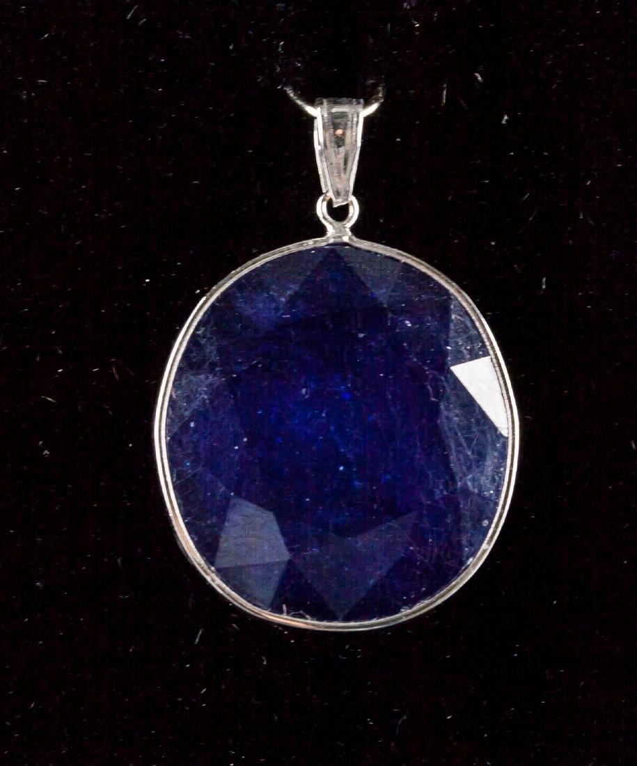 32.90ct Blue Sapphire Pendant CRV$2890