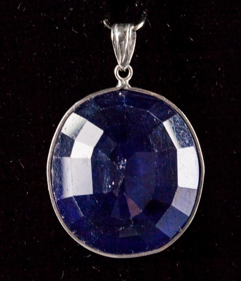 32.90ct Blue Sapphire Pendant CRV$2890 - 3