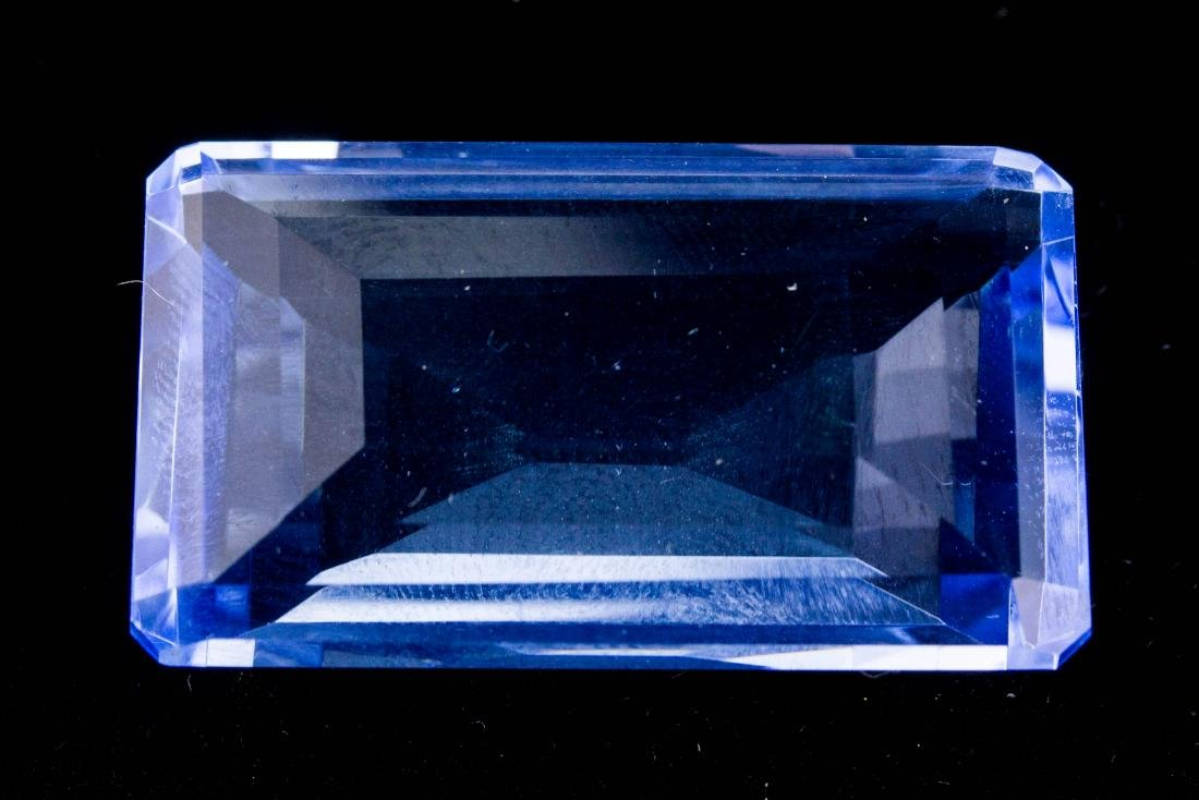 Emerald Cut Blue Topaz FACETED GENUINE 81.70 ct.