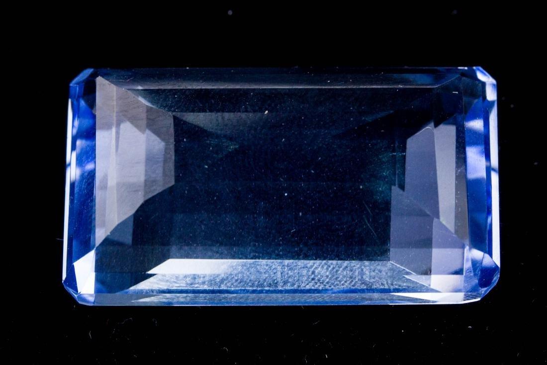 Emerald Cut Blue Topaz FACETED GENUINE 81.70 ct. - 2