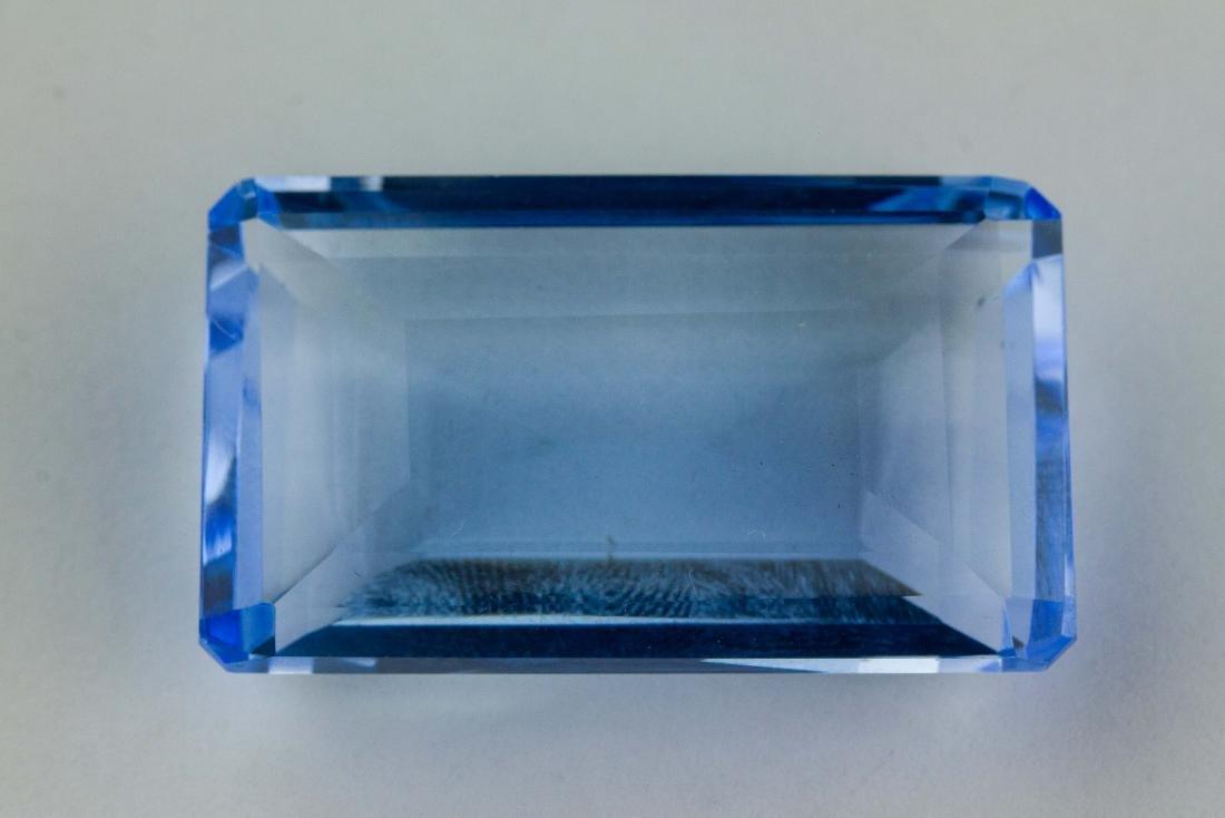 Emerald Cut Blue Topaz FACETED GENUINE 81.70 ct. - 4