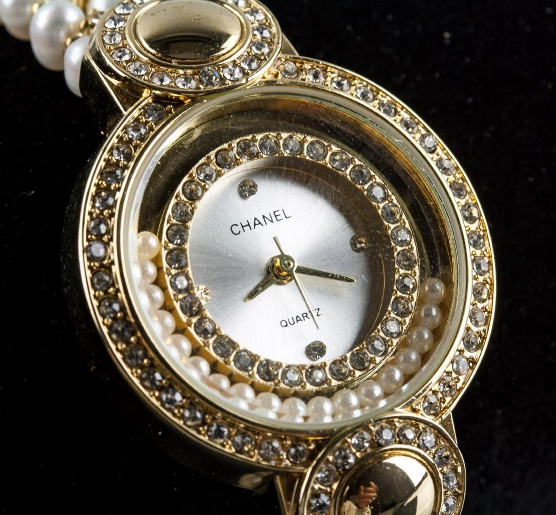 Chanel Fresh Water Pearl Bracelet Watch RV $400 - 2