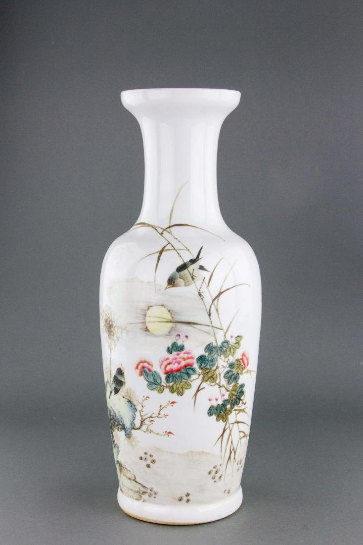 Chinese Republic Porcelain Vase Signed Liu Yucen