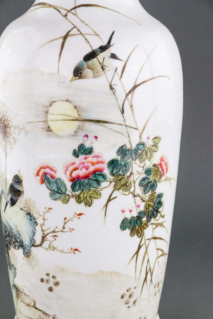 Chinese Republic Porcelain Vase Signed Liu Yucen - 2