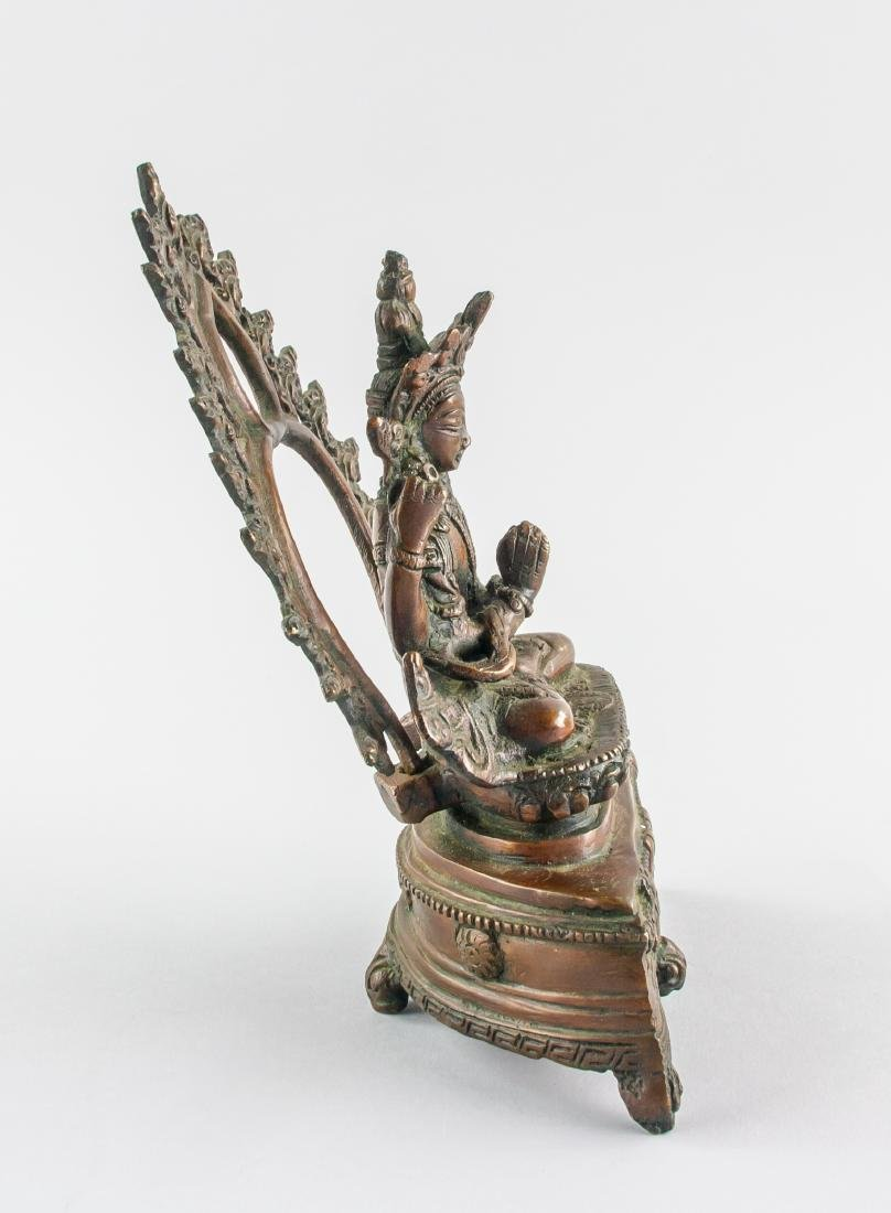 Chinese Bronze Four-Arm Guanyin Statue Loose Hinge - 4