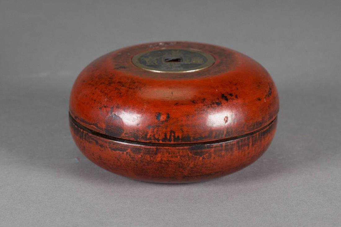 Chinese Compass w/ Red Lacquer Case