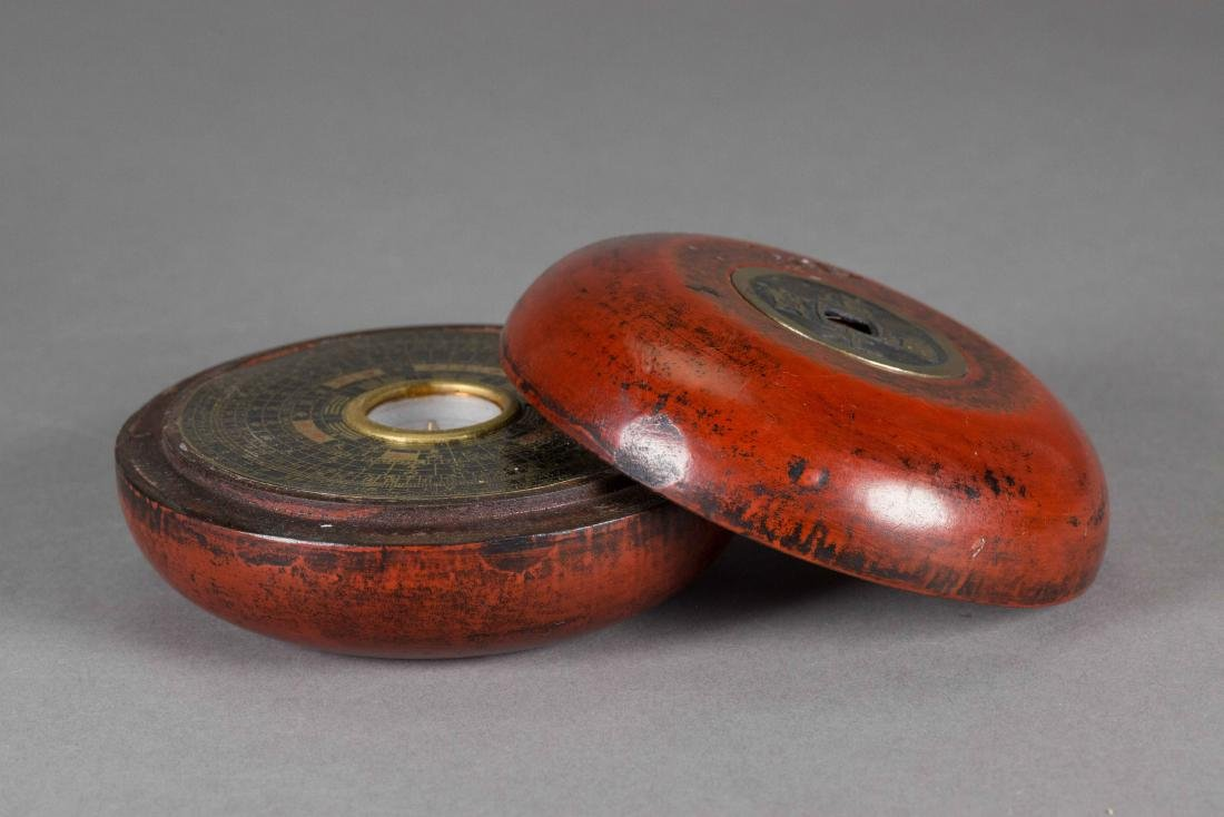 Chinese Compass w/ Red Lacquer Case - 2