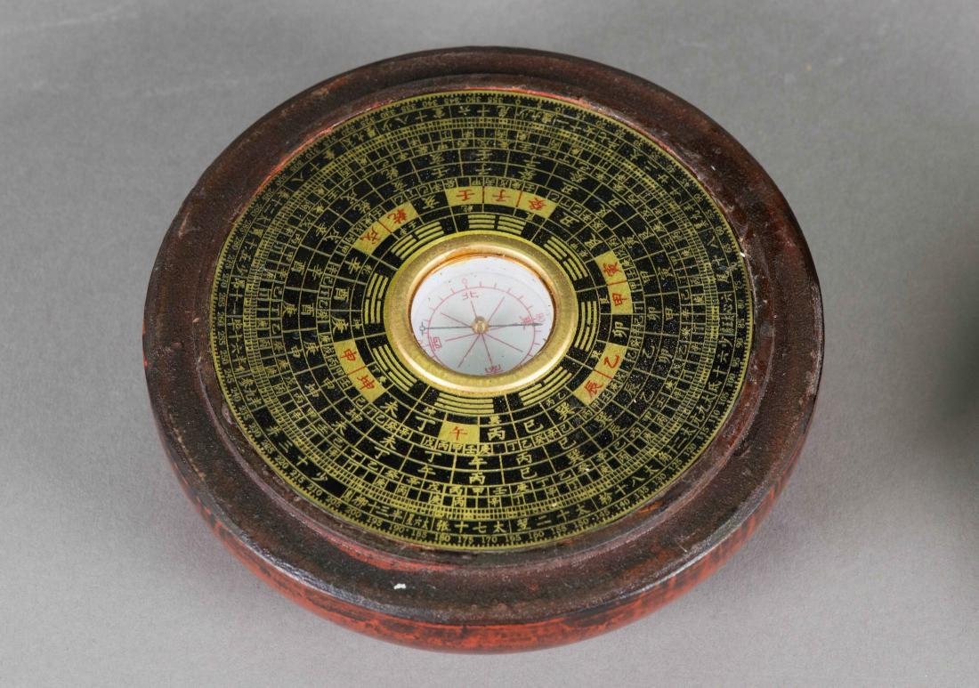 Chinese Compass w/ Red Lacquer Case - 4