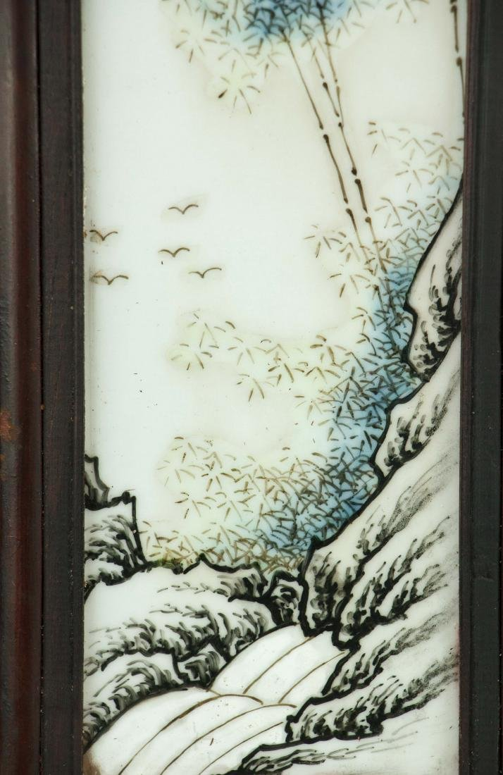 Pair of Chinese Porcelain Panels Xu Zhongnan Mark - 3