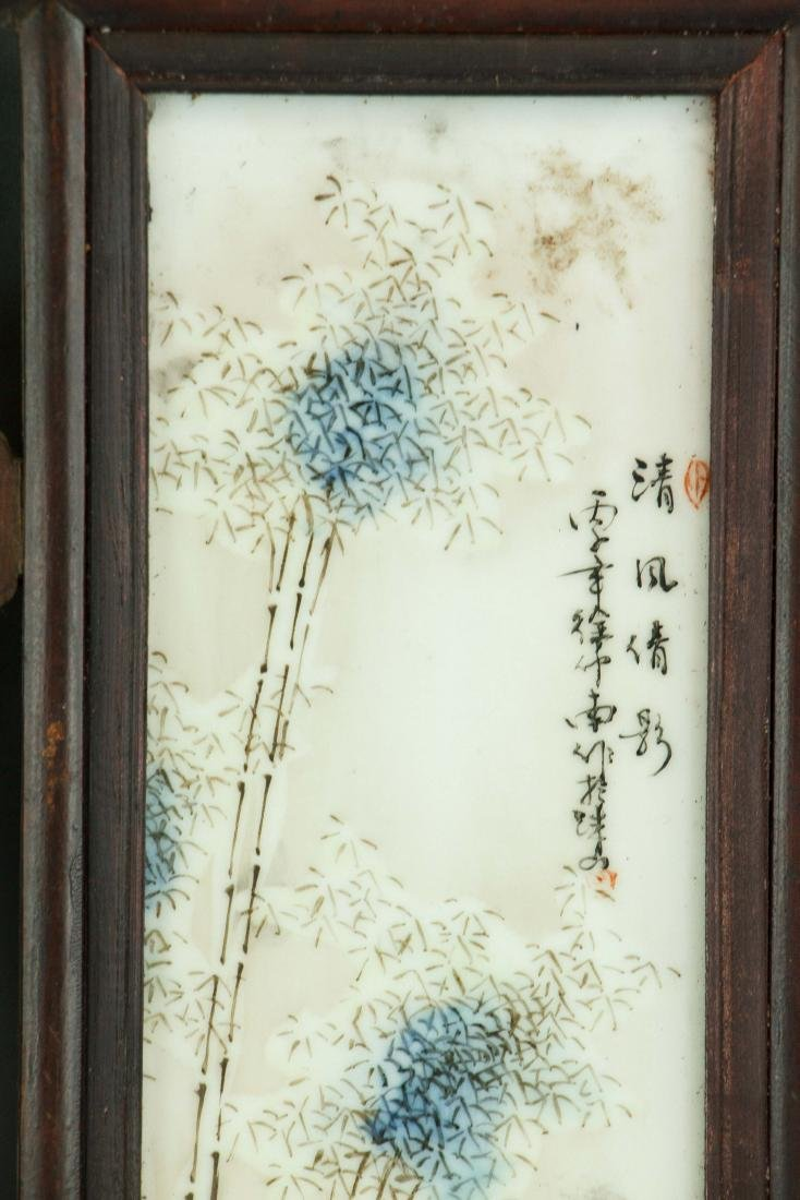 Pair of Chinese Porcelain Panels Xu Zhongnan Mark - 4