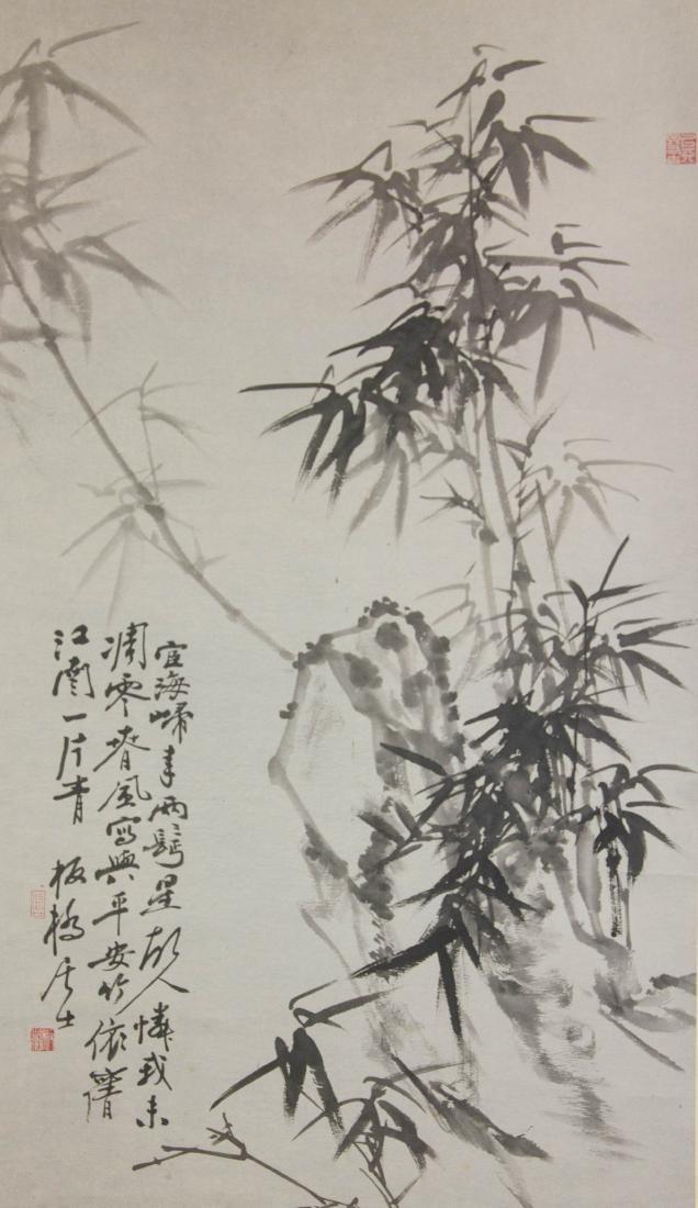 Zheng Banqiao 1693-1765 Chinese Ink  Paper Scroll