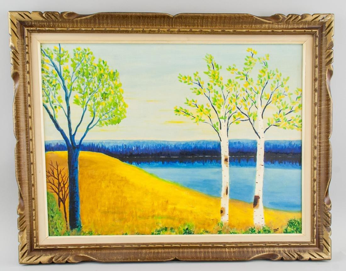 Marie Claude Boucher b. 1973 Acrylic on Canvas - 2