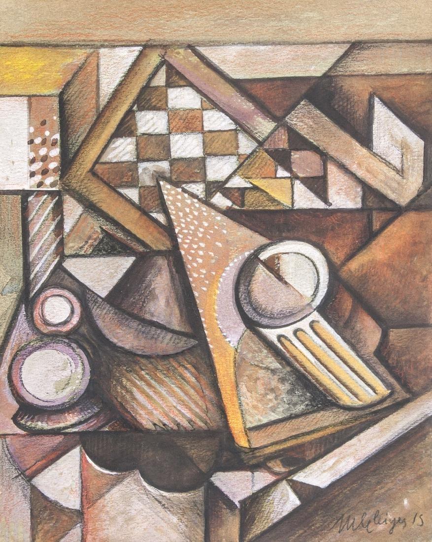 Albert Gleizes 1883-1953 France Gouache Abstract
