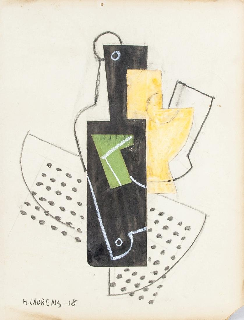 Henri Laurens 1885-1954 French Mixed Media Abstract