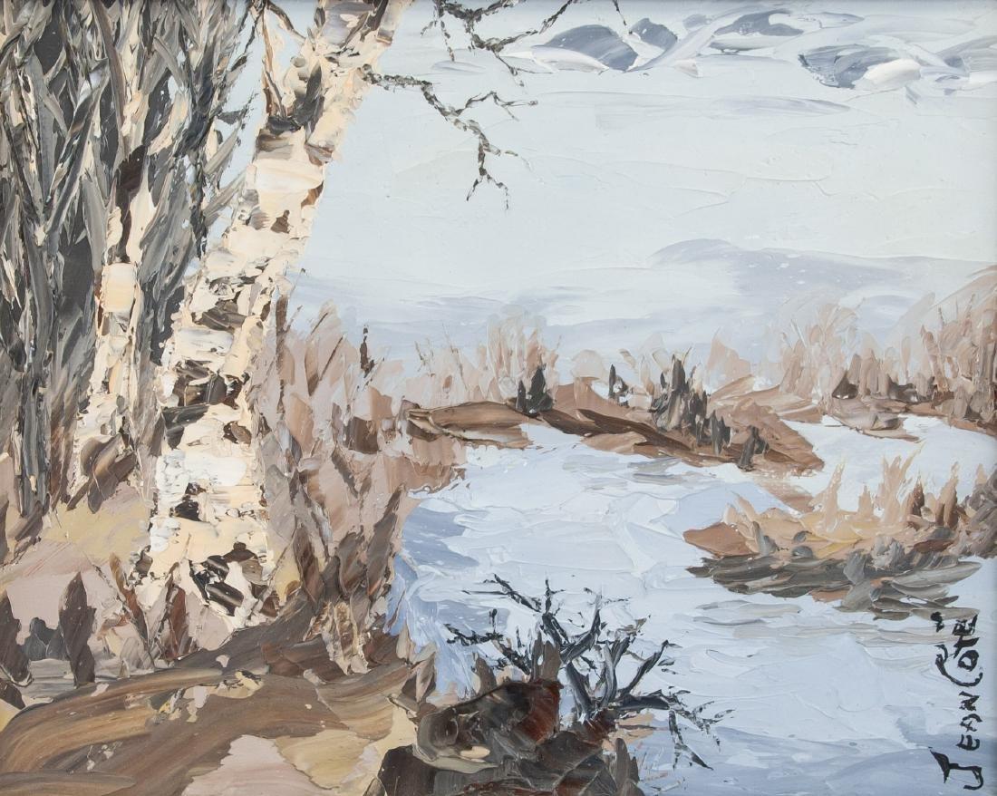 Jean Cote Canadian Landscape Scene Birch Trees