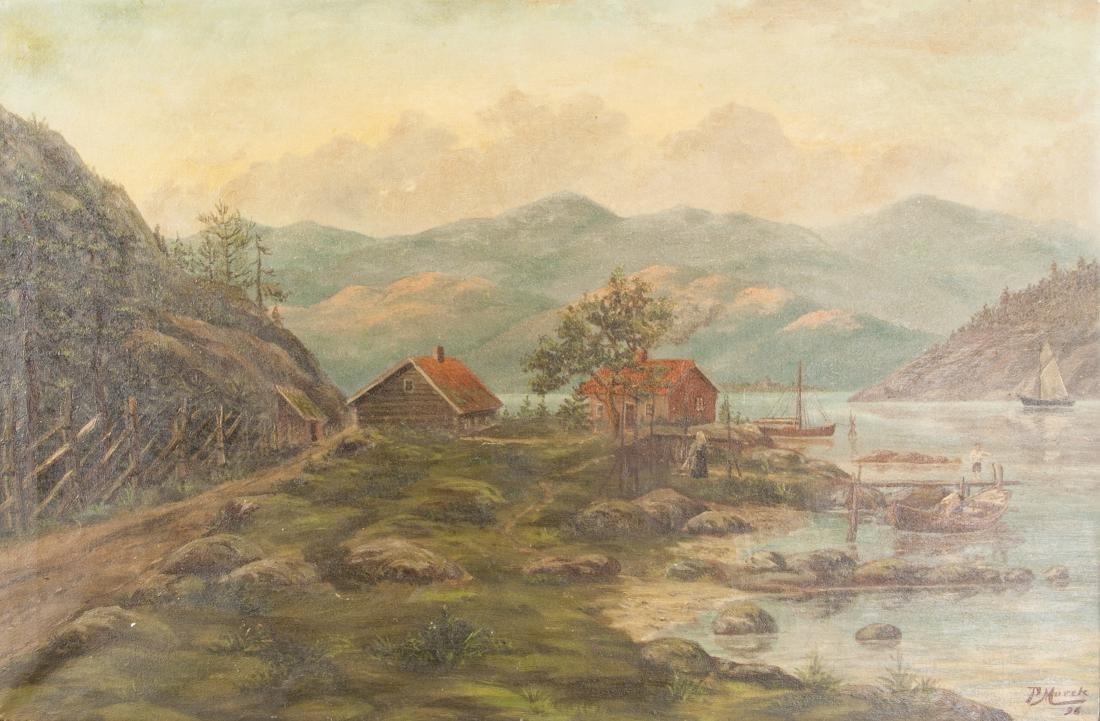 Peder Mork Monsted 1859-1941 Danish Oil on Canvas