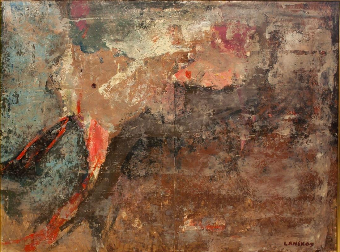 AndréLanskoy(Russian 1902-1976) Oil on Paper