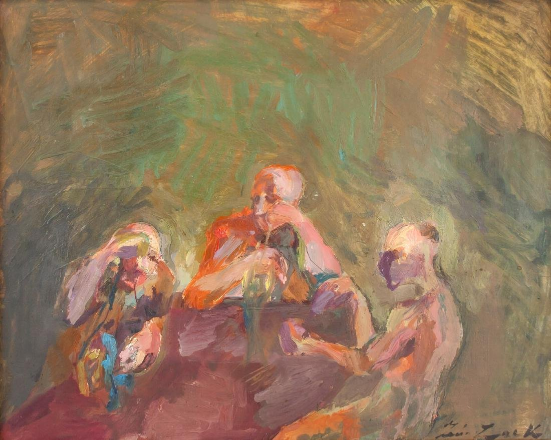 Leon Zack 1892-1980 Russian/French Oil Abstract