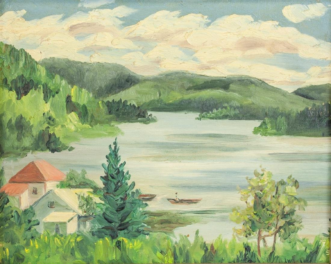 J. MacDonald Canadian c.1944 Cottage Scene