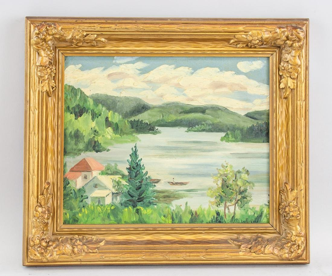 J. MacDonald Canadian c.1944 Cottage Scene - 2