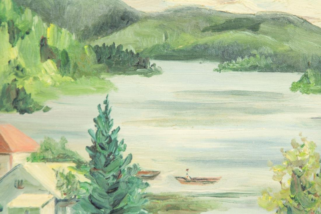 J. MacDonald Canadian c.1944 Cottage Scene - 3