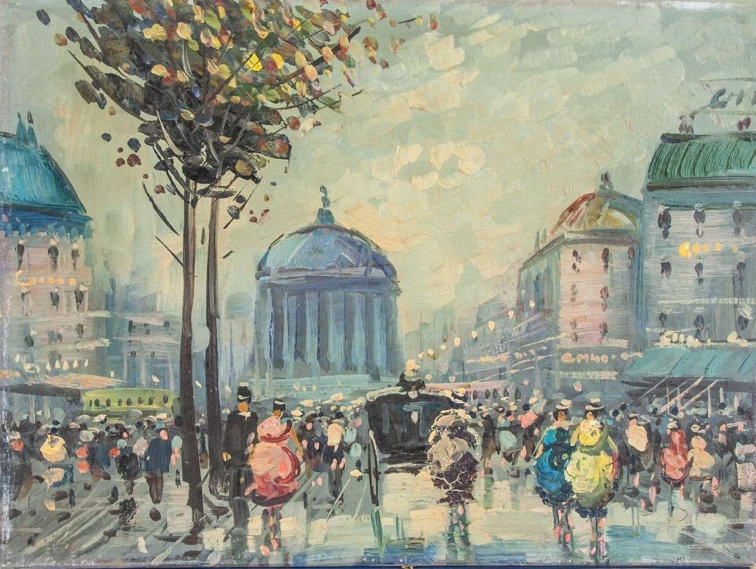 Caroline C. Burnett Parisian Cityscape Scene OOC