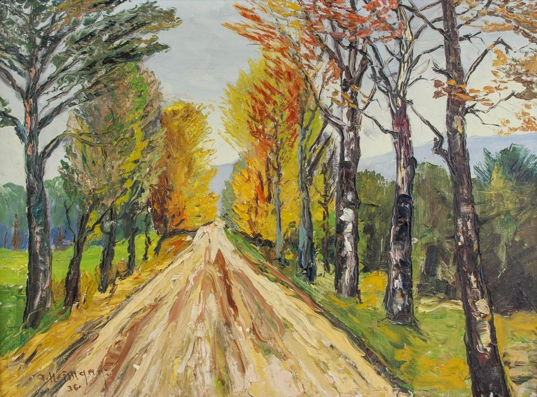 1936 Path Birch Trees Lined OOC