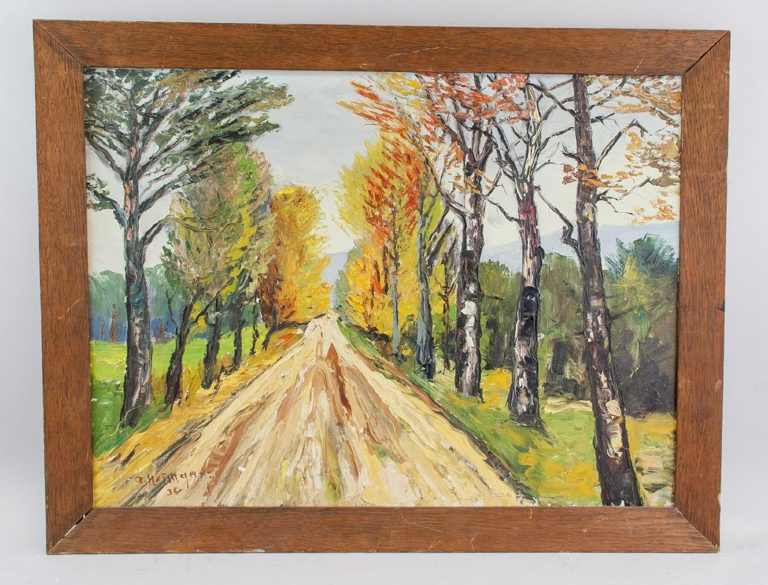 1936 Path Birch Trees Lined OOC - 2