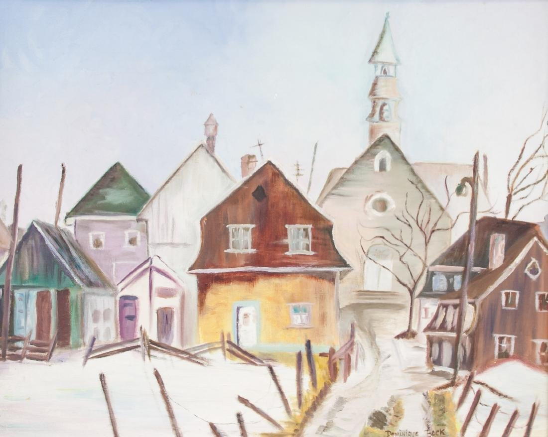 Dominique Bock 1975 Quebec Cityscape