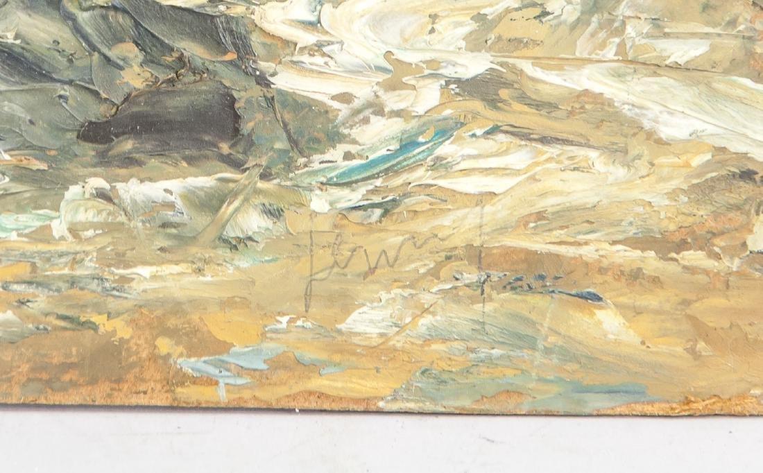 """Oil on Board """"Werratal"""" 1961 Inscribed Dedication - 4"""