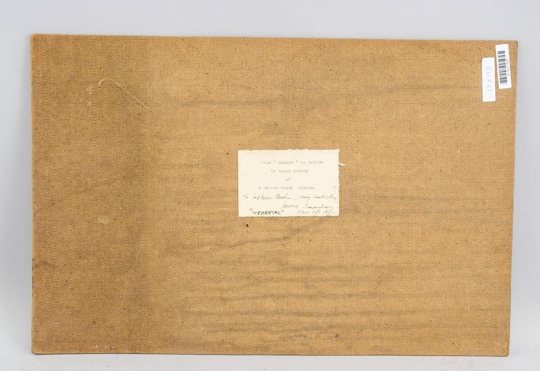 """Oil on Board """"Werratal"""" 1961 Inscribed Dedication - 5"""