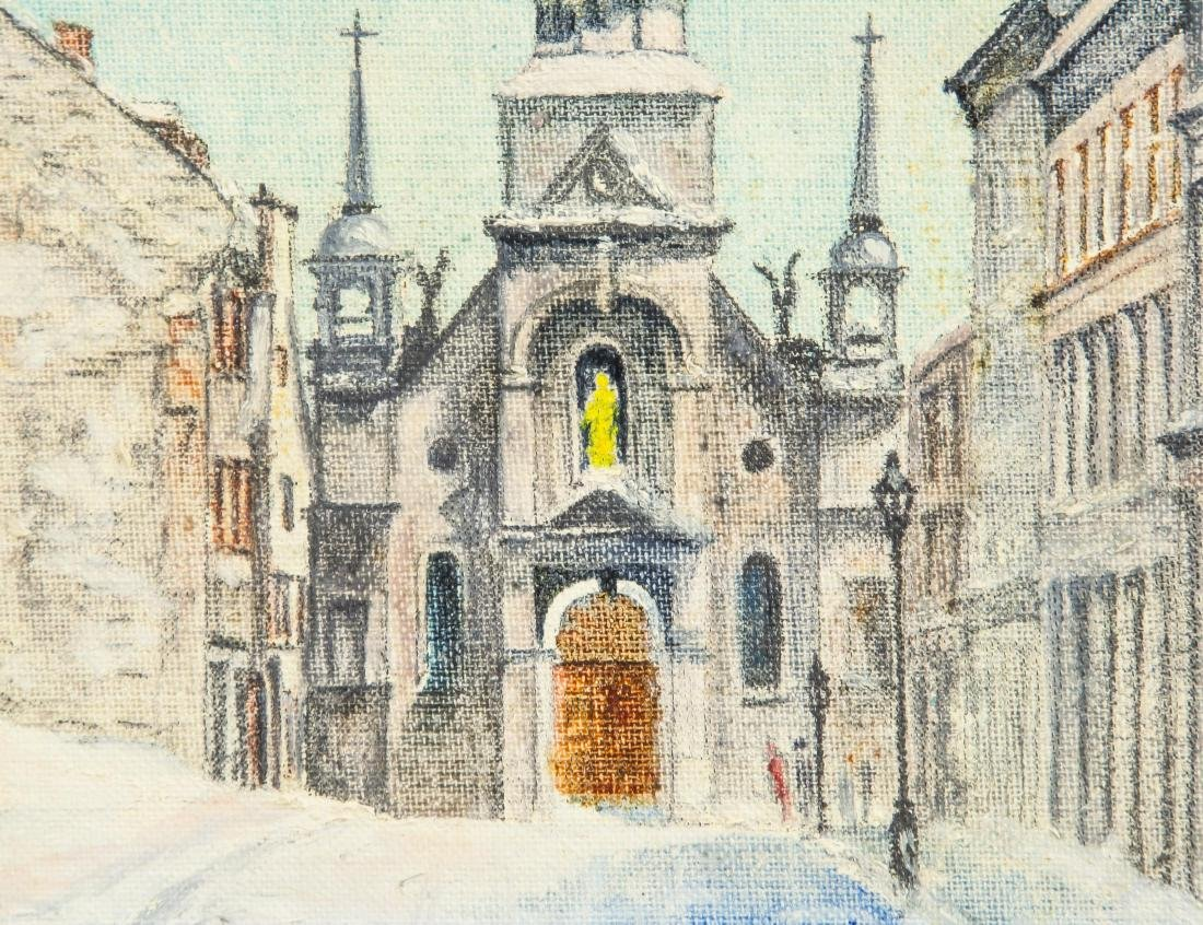 Thomas Keenan Oil on Board Old Montreal Cathedral - 3