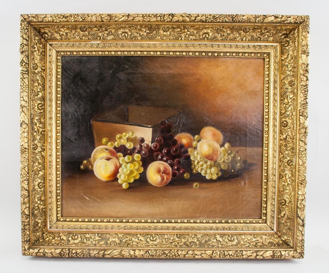 Victorian Still Life OOC Painting Of Fruit - 2