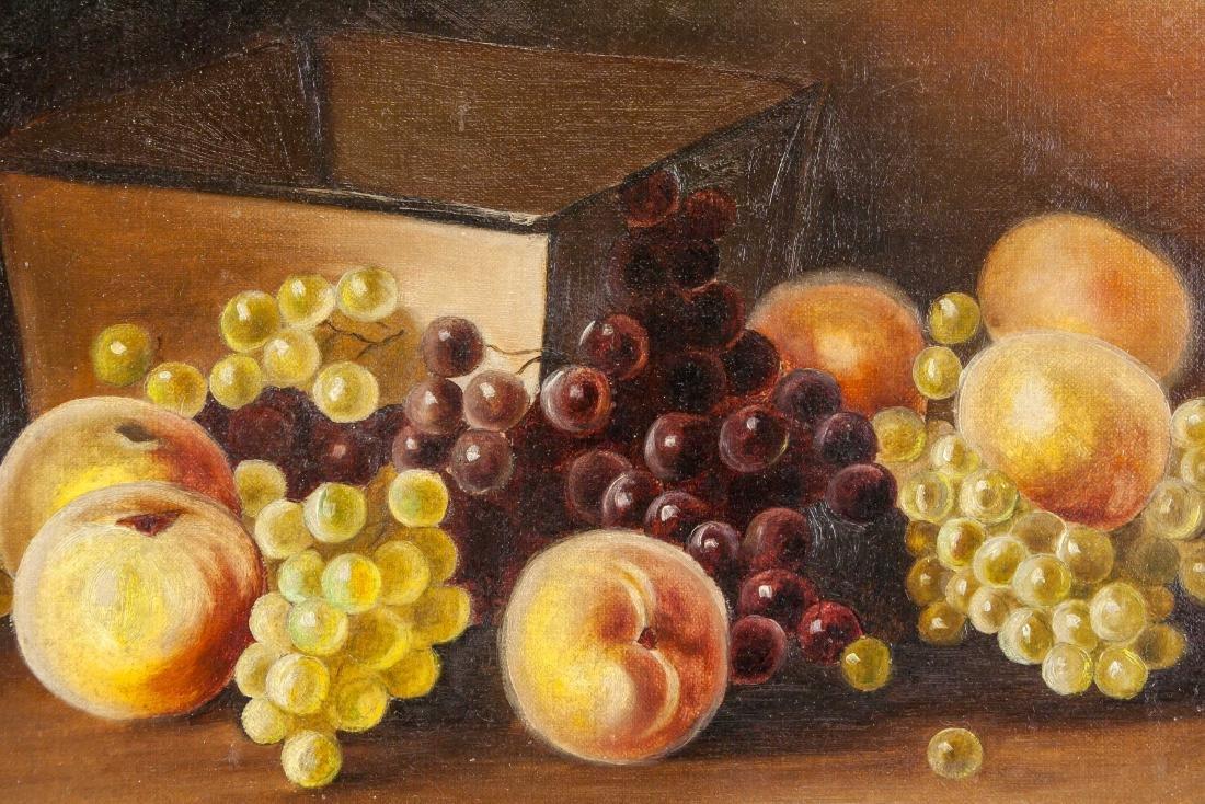 Victorian Still Life OOC Painting Of Fruit - 3