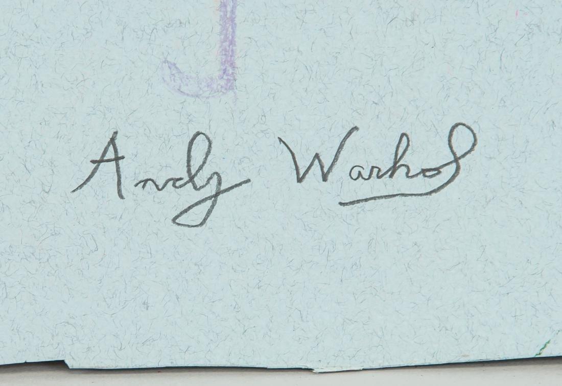 "Attr Andy Warhol 1928-1987 Pastel Paper "" Parasol"" - 4"