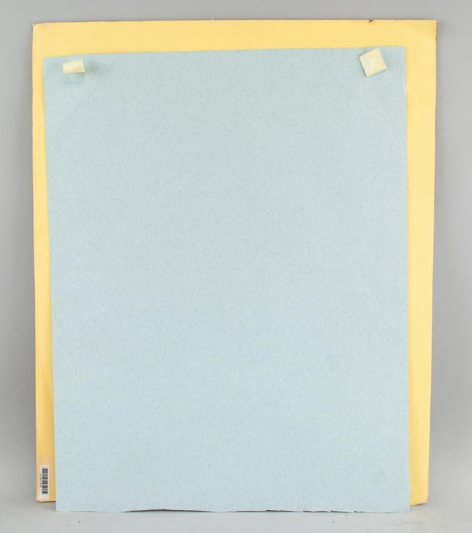 "Attr Andy Warhol 1928-1987 Pastel Paper "" Parasol"" - 5"